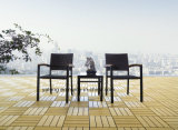 تصميم حديثة خارجيّ حديقة أثاث لازم [تك] طاولة مع كرسي تثبيت قابل للتراكم يتعشّى مجموعة ([يت505]) جانبا [6-10برسن]