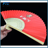 タケカスタム木および絹のFoldableファンはファンを畳む