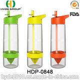 Пластичное Tritan BPA освобождает бутылку лимона Zinger цитруса, бутылку вливания плодоовощ горячего сбывания пластичную (HDP-0848)