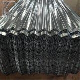 屋根ふきのための0.4mm亜鉛上塗を施してある波形の鋼板