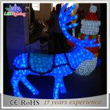 Luz acrílica quadrada ao ar livre da decoração da rena do diodo emissor de luz 3D do Natal