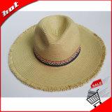 Mulheres de papel do chapéu de palha do Fedora de Sun Panamá da palha