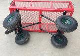 Carro de jardim resistente do engranzamento do metal