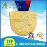 Medaille van de Sporten van de Marathon van de Toekenning van het Metaal van de douane de Fijne Gouden Lopende