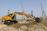 La construcción de la cuchara Municipal hidráulico de la máquina excavadora de ruedas HT155W