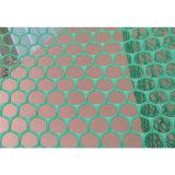 Сетка зеленой пластичной плоской сетки твердая пластичная