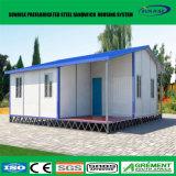 Baja casa de acero de lujo de la casa prefabricada del panel de pared de emparedado del costo EPS