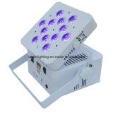 무선 12X12W Rgbwauv 6in1 건전지 LED 동위는 빛 할 수 있다