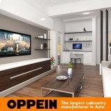 현대 즐거운 백색 래커 나무로 되는 가정 거실 가구 (OP16-Villa01)