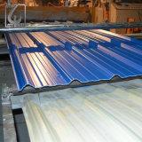 Fliese-rotes vorgestrichenes gewölbtes Stahldach, das für Gebäude-Dach bedeckt