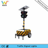300mm Trolly Sinal de Seta Móvel Solar Portable Traffic Light