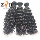 実質のインドのRemyの毛の束の波状の人間の毛髪