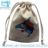 Cordón de ajuste de alta calidad muselina de algodón orgánico de la bolsa de jabón con Logo