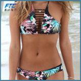 Badebekleidungs-Frauen-Badeanzug-Retro Weinlese-Bikini hochdrücken
