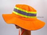100% poliéster de color naranja neón cuchara sombrero con ribete reflectante
