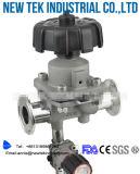 Мембранные клапаны Triclover пневматического привода нержавеющей стали Ss316L пластичные