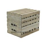 Ensemble de la caisse de bois imbriqués dans résisté gris (9-pack)