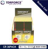 3V de Batterij van het Lithium van het Muntstuk van Cr met Ce voor Horloge (Cr 36PACK)