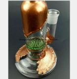 Tubos de cristal del humo del oro y de la plata