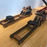Gym Fitness Cardio equipos de deportes de resistencia al agua de la máquina de remo de madera