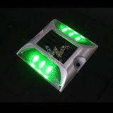 Réflecteur d'énergie solaire à LED imperméable à l'eau Marqueur de route en aluminium