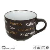 16oz Big Ceramic Stoneware Soup Mug con Silk Screen