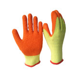gants enduits du pli 10g de fini de latex orange de coton