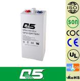 la batterie de 2V300AH OPzV, GÉLIFIENT la batterie d'Aicd de fil réglée par soupape profonde tubulaire de batterie d'énergie solaire de cycle d'UPS ENV de batterie de plaque 5 ans de garantie, vie des années >20