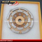 D100mm에 의하여 스레드되는 연결 두 배 줄 가는 컵 바퀴