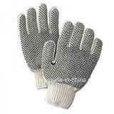 Горячая продажа Установите противоскользящие ПВХ пунктирной хлопка защитные перчатки