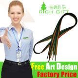 緑かベージュストラップの鎖の金属のカードのホックのナイロン締縄のクラフト