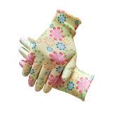 Commerce de gros Mesdames PU Gants doublure en polyester Fashion Jardin