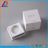 Rígido de cartón blanco elegante tarro cosmética Embalaje con bandeja interior