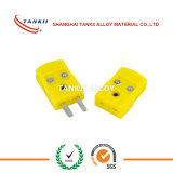 Cor amarelo thermoocuple miniatura tipo K do conector