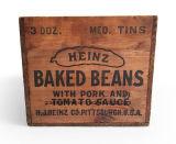 포도 수확 목제 크레이트, Heinz 크레이트, Heinz는 콩 나무 상자/나무로 되는 저장 크레이트 의 목제 상자/농가 원시적인 시골풍 가정 장식을 구웠다