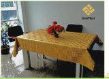 Pvc Afgedrukt Goud In reliëf gemaakt Tafelkleed met Steun
