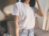 円形の首のカスタム短い袖のTシャツ