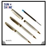 Arrial 새로운 도금 및 장식적인 절단 호화스러운 금속구 펜