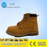 Наполовину сократить желтого цвета кожи Nubuk работы защитная обувь