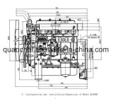 Economische Diesel van het Gebruik Generator QC480d