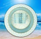 Het blauwe Overzees van de Liefde 4 Stukken van het Vaatwerk
