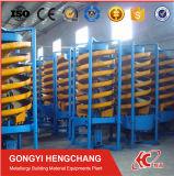 De Spiraalvormige Helling van de Installatie van het Erts van de Was van de industrie voor het Sorteren van het Erts van het Zink