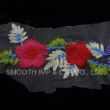 Tessile all'ingrosso del fiore di modo 3D che assetta il tessuto multicolore del merletto di Embrodiery