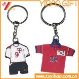 Camicia di gomma Keychain di gioco del calcio del PVC per il regalo promozionale