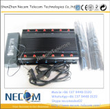 Construtores Desktop do sinal do GPS do jammer do sinal do telemóvel (CDMA/GSM/DCS/PHS/3G), jammer móvel de alta potência do sinal aplicável às prisões, escolas, forças, fábricas