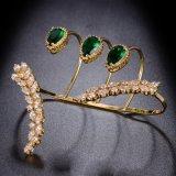 Braccialetto R1117 della palma placcato oro reale unico di disegno di modo della donna