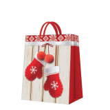 크리스마스 겨울 장갑에 의하여 인쇄되는 서류상 선물 부대