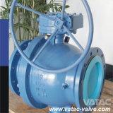 Válvula de esfera montada ou fixada com trinco flangeado de aço inoxidável forjado ou moldado