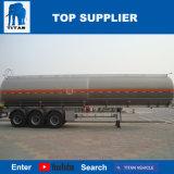 Titan en alliage aluminium remorque pour transporter des pétroliers Diesel Diesel avec 45000 litres