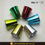 Vidrio de agua respetuoso del medio ambiente colorido Electroplated de la taza de consumición